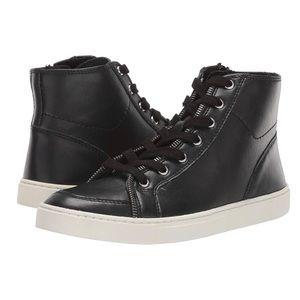 Frye and Co. Sindy Moto High Sneaker Black Size 8